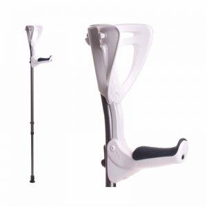 FDI ErgoTech forearm crutch close up White