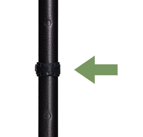 FDI height selector shown on crutch pole